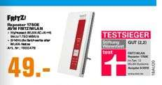 [Regional Saturn Frankfurt] AVM FRITZ!WLAN Repeater 1750E WLAN Repeater 1.75 GBit/s 2.4GHz, 5GHz für 49,-€