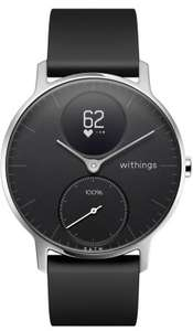 Hybrid-Smartwatch: Withings/Nokia Steel HR 40mm black + gratis Lederarmband (kompatibel mit iOS & Android)