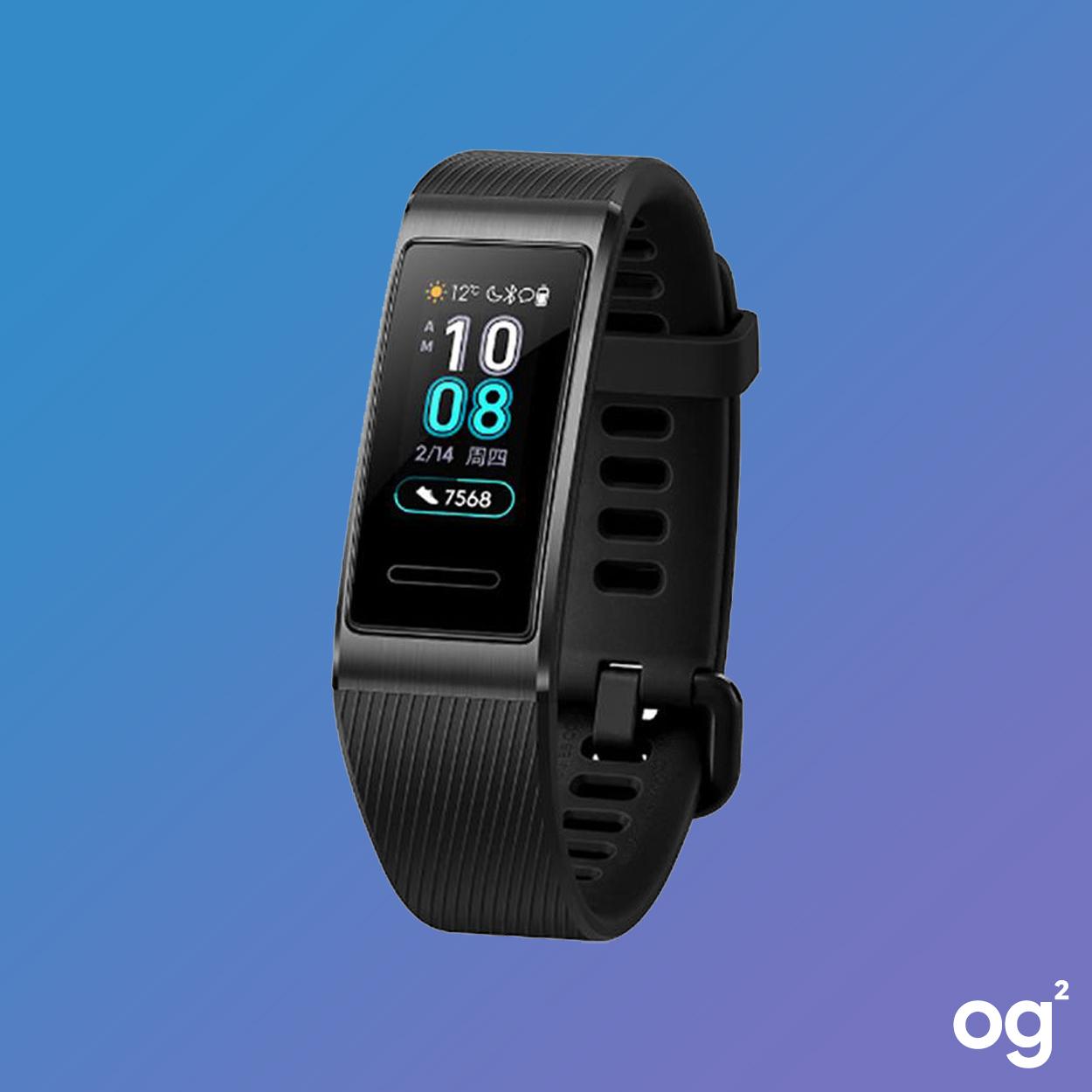 Huawei Band 3 Pro | GPS - farbiges AMOLED-Display - Herzfrequenzmesser - bis zu 5ATM wasserdicht | Schwarz und Blau