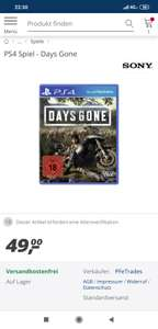 Days Gone (PS4 / Playstation 4) (real)