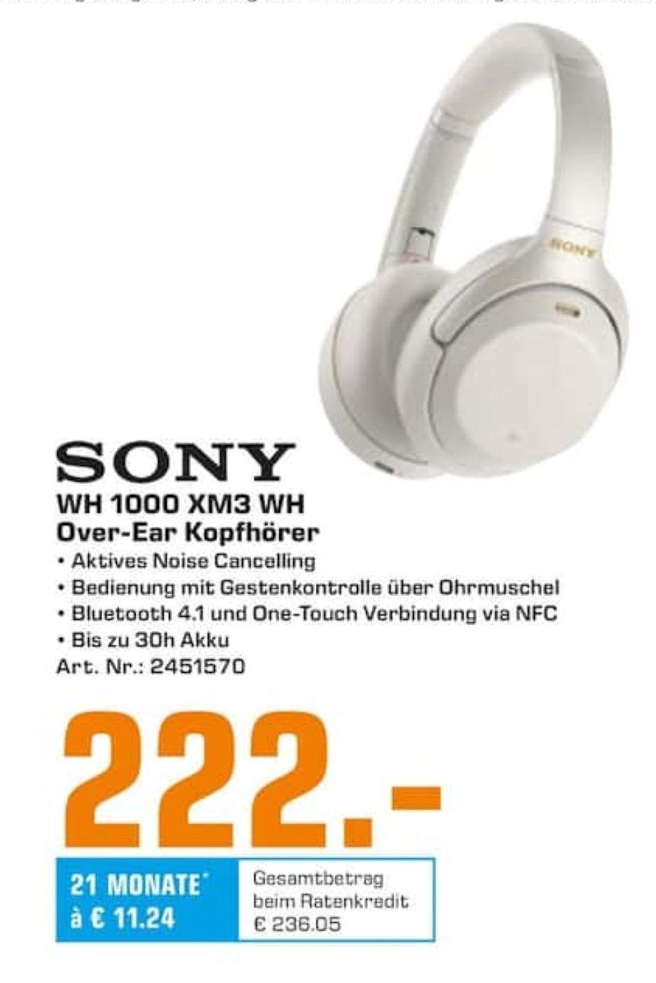 [Saturn Duisburg] Sony WH 1000 XM3 Kopfhörer für 222€