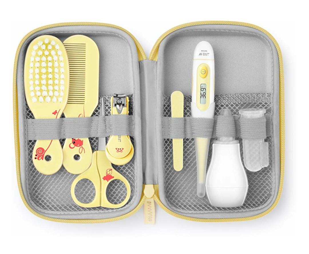 Philips Avent Babypflege-Set SCH400/00, 10 Teile, gelb [Prime]