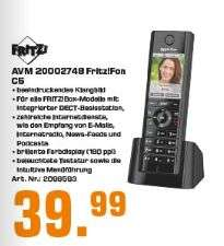 [Regional Saturn Flensburg] AVM FRITZ! Fon C5 DECT Telefon / Mobilteil für WLAN-Router schwarz für 39,99€