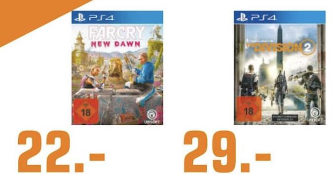 [Lokal: Saturn Gelsenkirchen / Buer] Tom Clancy's The Division 2 | Far Cry New Dawn für 22€ - PlayStation 4 | Razer Mamba Elite für 45€