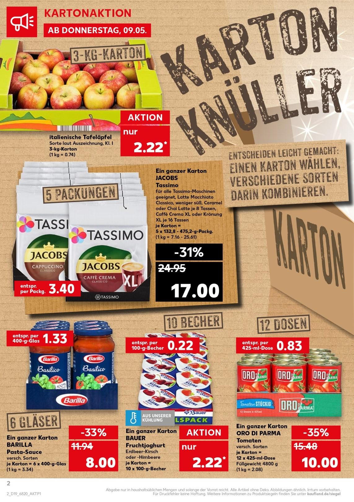 [Kaufland] Tassimo für effektiv 3,40 € (Karton-Weise Knüller-Preise 09.05.-15.05.)