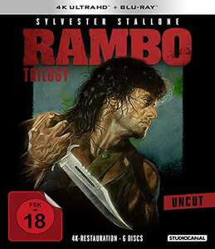 Rambo Trilogy Teil 1-3 4K (4K UHD + Blu-ray 6 Discs) für 38,17€ (Amazon & Thalia)