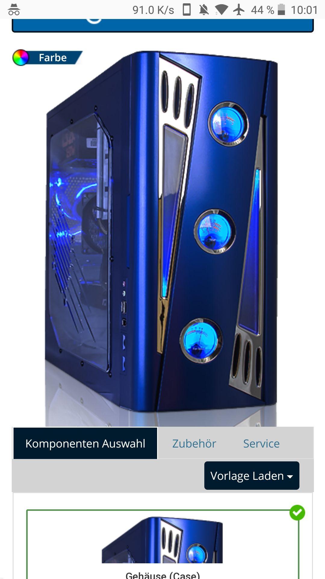 GAMING PC, RYZEN 5 2600X, RX 560, 8GB RAM, 1TB HDD, 600W BE QUIET NETZTEIL, WLAN, BELEUCHTUNG, DVD BRENNER
