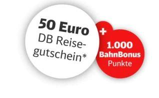 50€ DB Reisegutschein + 1.000 BahnBonus Punkte bei Buchung einer Pauschalreise auf bahn.de (MBW 999€)