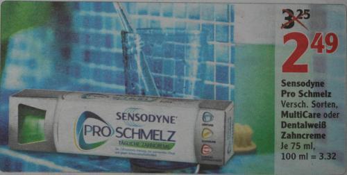 Sensodyne Proschmelz für 1,82 EUR pro Stück mit Gutschein @ Globus