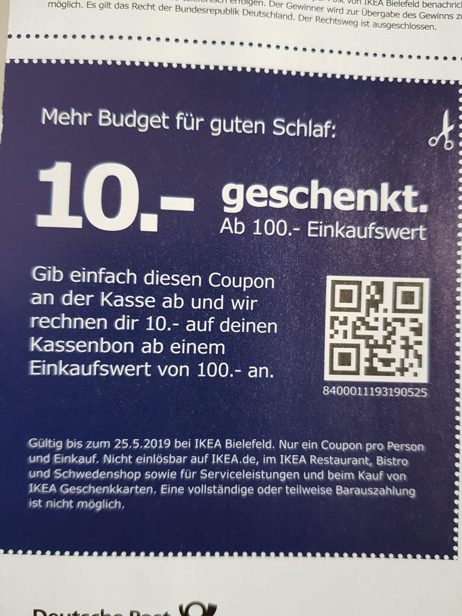 IKEA Bielefeld 10 Euro geschenkt (Einkaufswert 100,-)