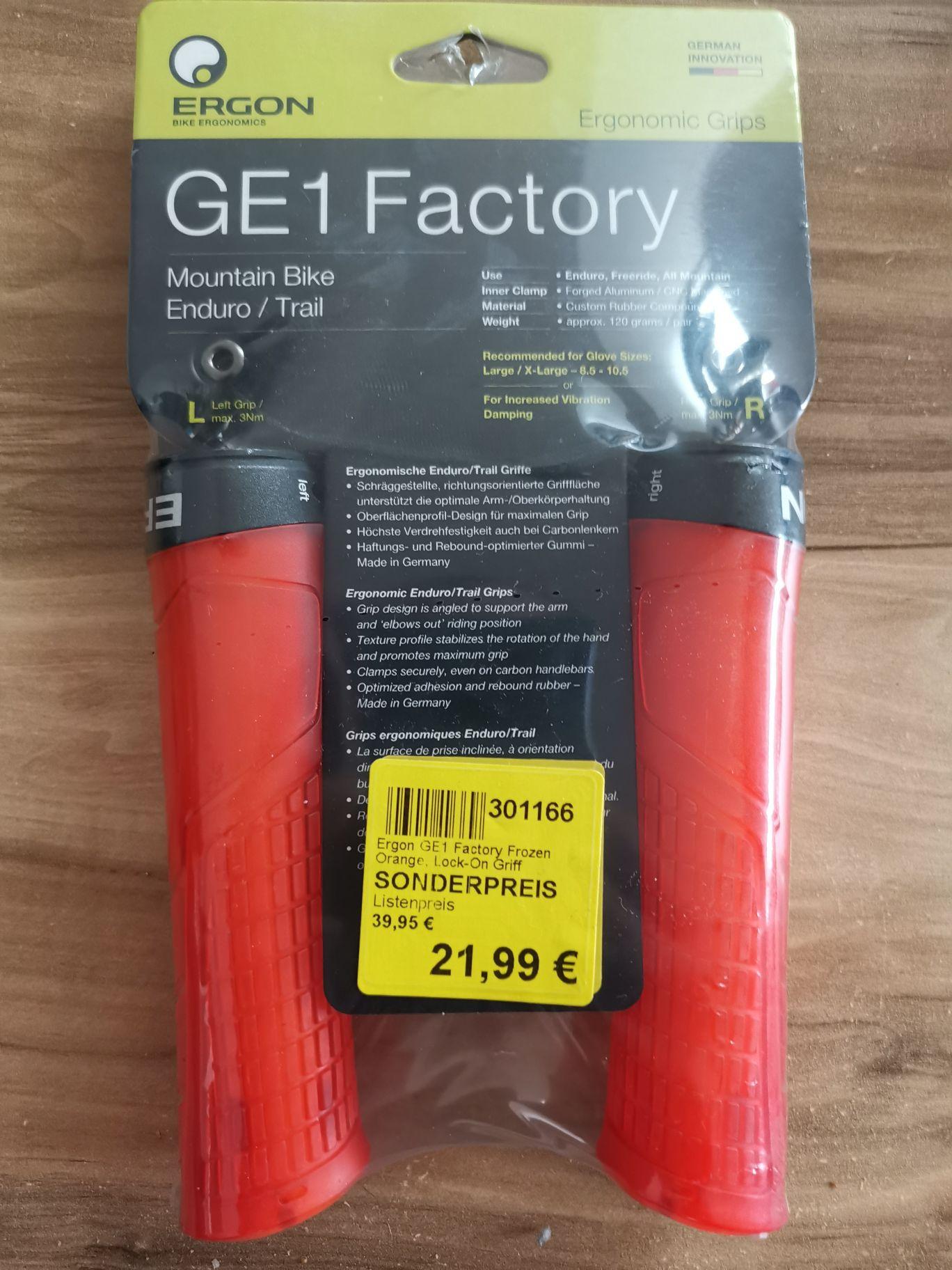 Ergon GE1 factory Griffe (mtb/enduro) bei Zweirad Stadler