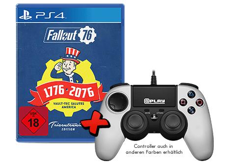 @Play PS4- oder Xbox One Controller + Fallout 76 Tricentennial Edition für 39,99€ (GameStop)