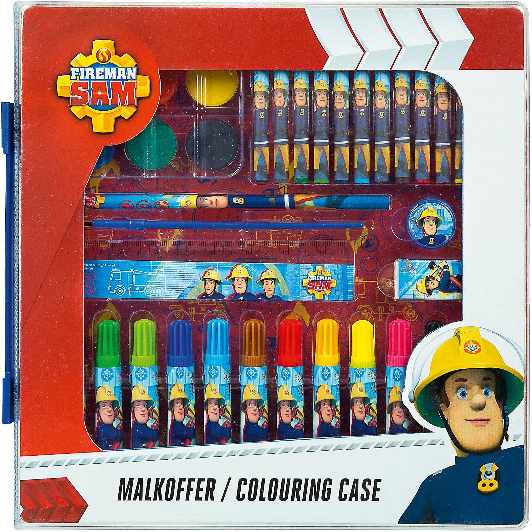 Undercover - Feuerwehrmann Sam Malkoffer, 24-tlg. für 4€ bzw. für 3,40€ (Müller)