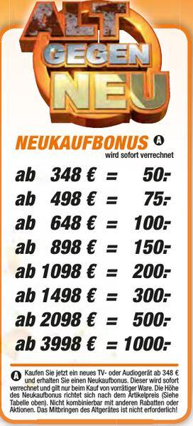 [Regional Langenhagen und weitere] Neukaufbonus, zum Beispiel OLED Sony 65AF8 für 1799€