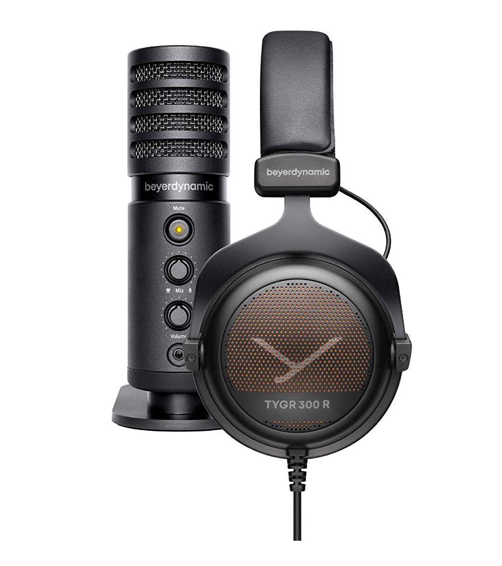 Beyerdynamic TYGR 300R Over-Ear-Kopfhörer (32 Ohm, kabelgebunden, offene Bauweise) + Fox USB-Mikrofon (Vorbestellung) [Amazon.es]