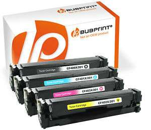 4 Toner kompatibel für HP 201X Color Laserjet Pro M252dw M252n M274n MFP M277dw