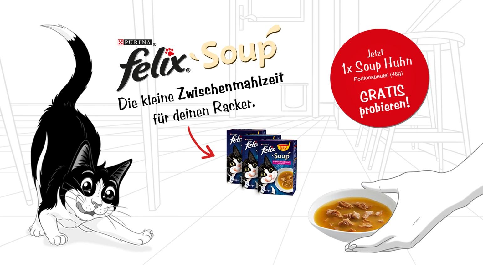 1x Purina Felix Soup gratis testen