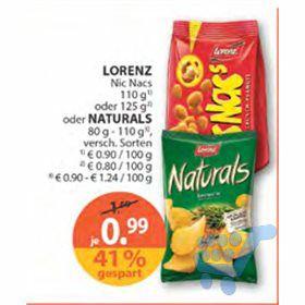 Eine Packung NicNac's für 0,99€ bei Müller (-15% Rossmann Gutschein, - 0,40€ Marktguru)