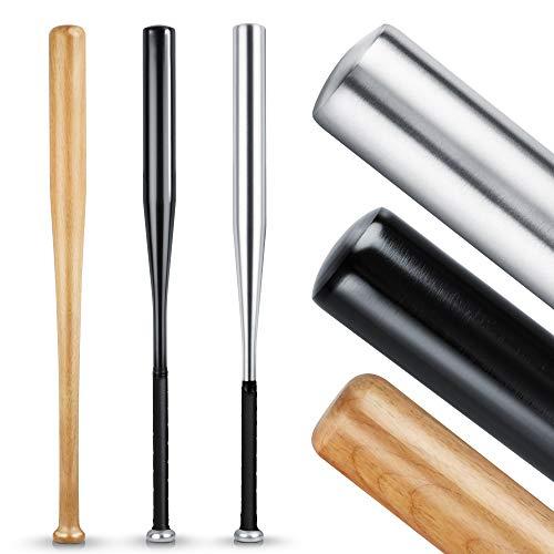 [Amazon prime] Heldenwerk Baseballschläger aus Holz oder Aluminium (schwarz/silber) - 31 Zoll - Solide verarbeitet (Blitzangebot)