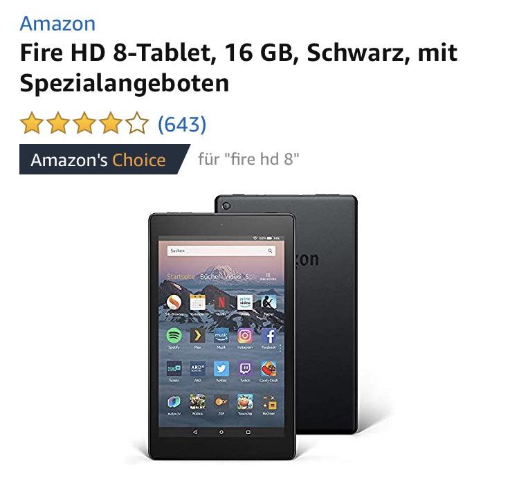 Fire 7, 8 HD und 10 + 3 Monate Amazon Music Unlimited