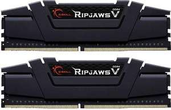 B-Die! G.Skill RipJaws V schwarz DIMM Kit 32GB, DDR4-3000, CL14-14-14-34 (F4-3000C14D-32GVK)