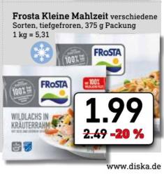 (Diska Nordbayern-Sachsen-Thüringen) FROSTA Kleine Fertiggerichte 375 Gramm / Nutella 750 Gramm für 2,79€