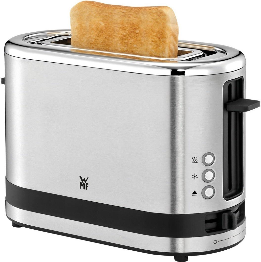 WMF KÜCHENminis 1-Scheiben Toaster mit Langschlitz für XXL-Toast inkl. Brötchenaufsatz, 7 Bräunungsstufen, Überhitzungsschutz, 600W