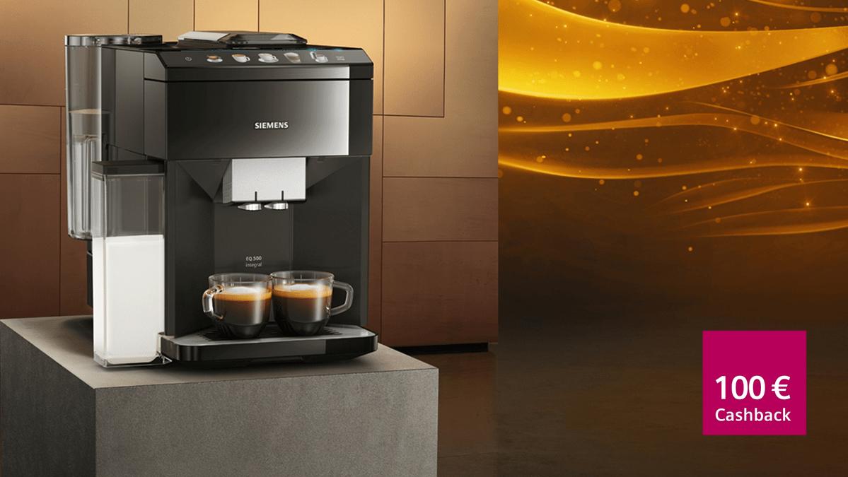 Siemens Kaffeevollautomat EQ.500 integral TQ505DF9 (100€ Cashback* bis zum 15.07.2019)