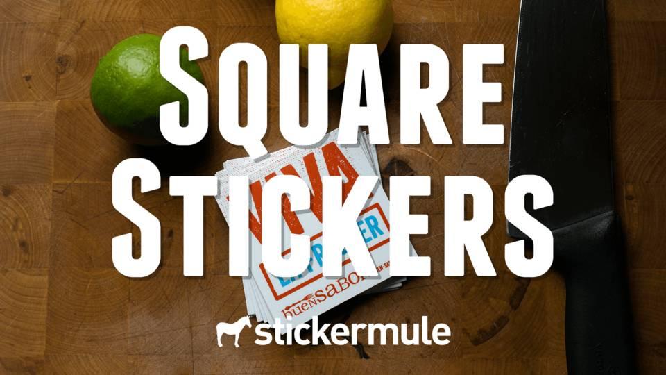[Stickermule.com] 50 quadratische Sticker 2x2 Zoll / 5x5 cm für 8,70€