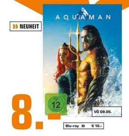 [LOKAL Saturn Frankfurt, Offenbach, Neu-Isenburg] Aquaman Blu-Ray für 10,-€