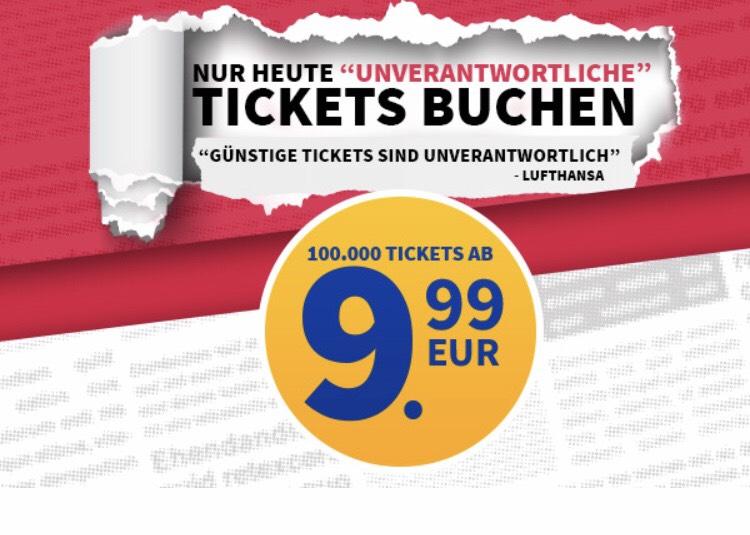 Laudamotion - ab 9,99€ Sommerurlaub Tickets
