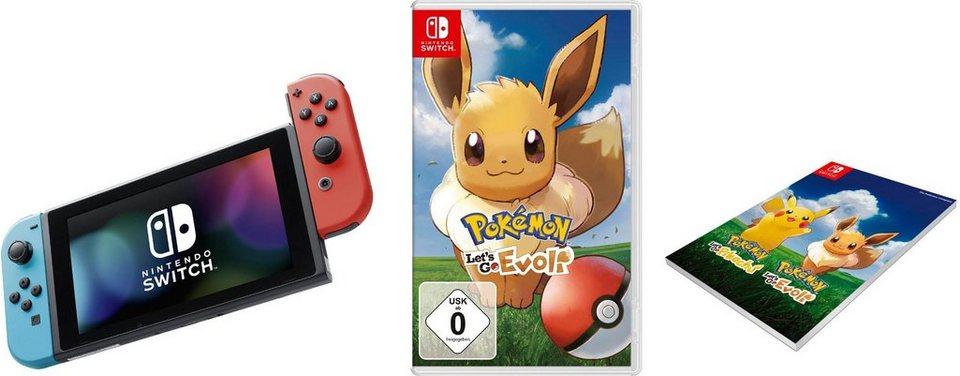 Nintendo Switch (Bundle, inkl. Pokémon: Let's Go, Evoli)