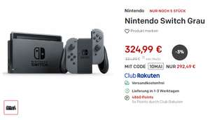 [Rakuten] Nintendo Switch plus Shoop (6,83) und Superpunkte (48,60) [eff.237,06]