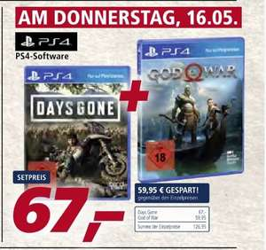 Days Gone (Playstation 4) + God of War (Playstation 4) für 67,-€