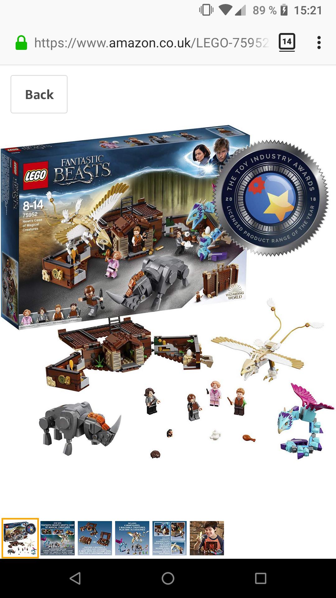 Lego Harry Potter 75952 - Newt und seine magischen Tierwesen