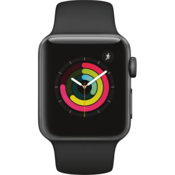 Apple Watch Series 3 GPS, 38mm Alu Schwarz