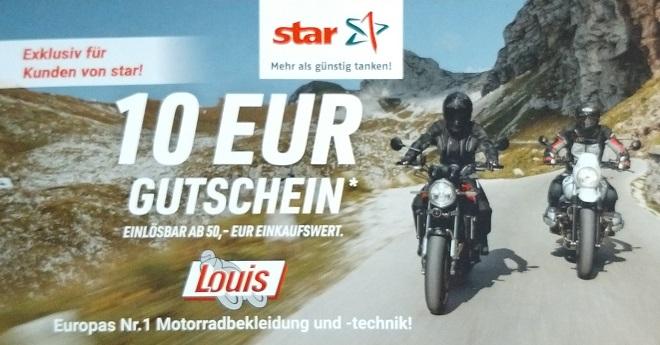 (offline/Star-Tankstellen)  10€ Gutscheine ( 50€ MBW ) für Louis.de liegen wieder aus
