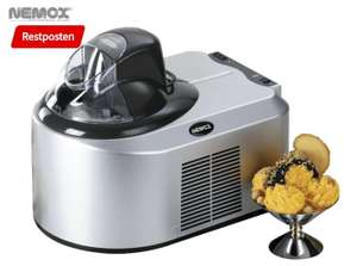 NEMOX Gelato Oxiria Eismaschine (150 Watt, silber)