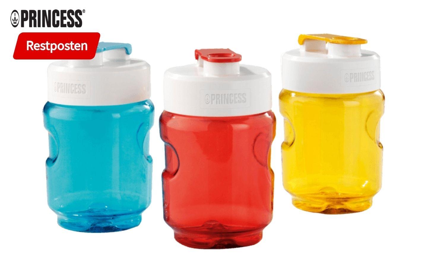 Princess 217402 Bottle2go Trinkflasche 0,3l blau, rot, gelb