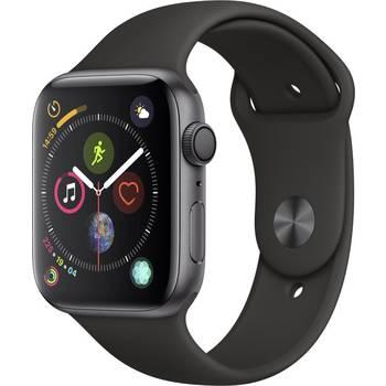 Apple Watch Series 4, schwarz, Sportarmband