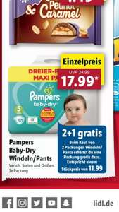 Lidl Pampers BabyDry / Pants 2+1