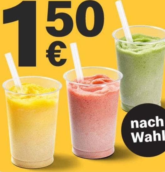 1x Iced Fruit Smoothie regular nach Wahl für 1,99€ [McDonalds App]