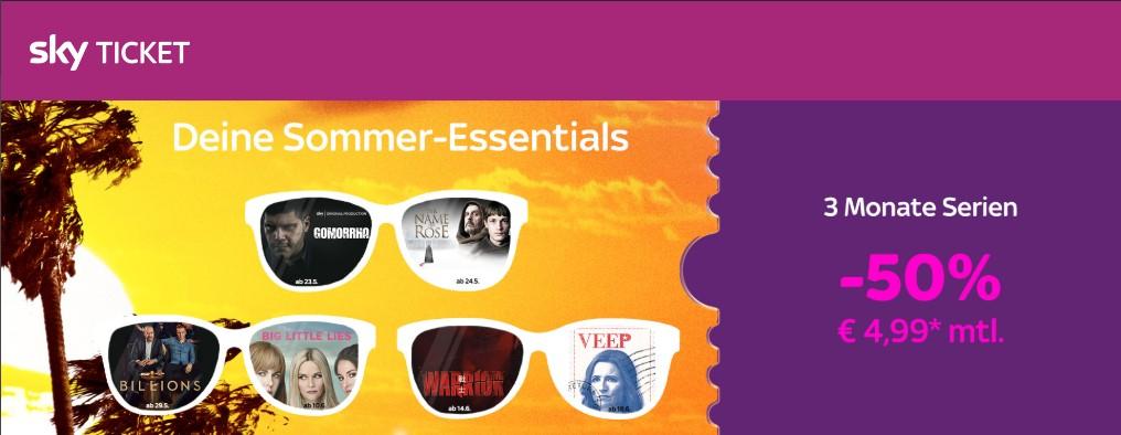 3 Monate Sky Ticket Entertainment für 4,99€ je Monat [Bestandskunden?]