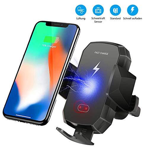 Qi Charger / Wireless Schnellladegerät mit Lüfterhalterung