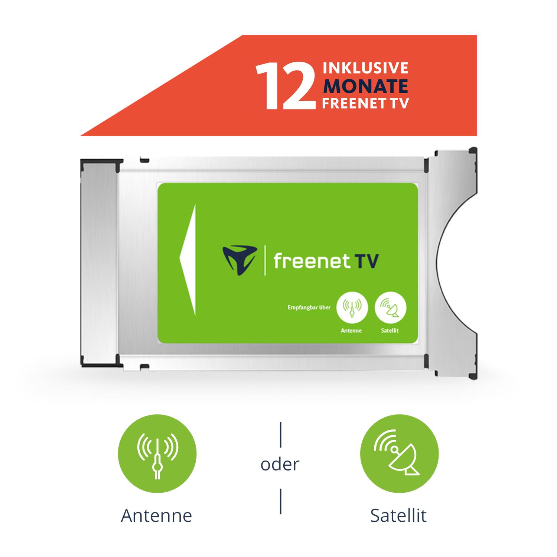 freenet TV CI+ Modul inkl. 12 Monate Guthaben (für Antenne oder Satellit)