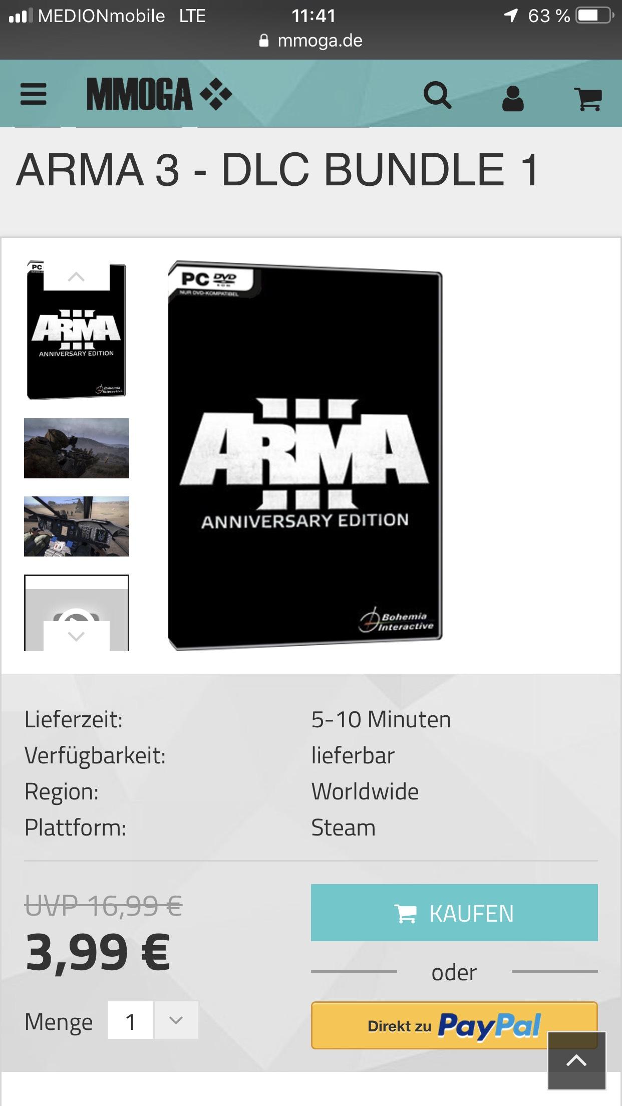 ArmA 3 DLC Bundle 1 ( Karts, Helikopter, Marksmen[Ghillie Suit]) bei MMOGA