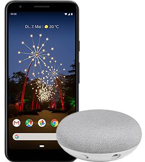 Young Tarif mit 12 GB Datenvolumen (+ 5gb durch Abiagenten) und Google Pixel 3a + Google Home Mini  (Gilt für alle STUDENTEN bis 28)