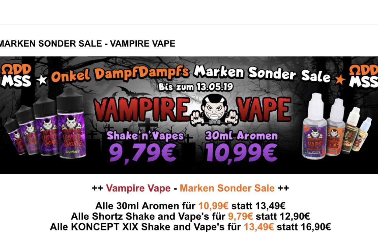 Alle Vampire Vape / KONCEPT XIX Shake'n'Vapes und Aromen im Sale [onkeldampfdampf.de] Dampfen / Liquids