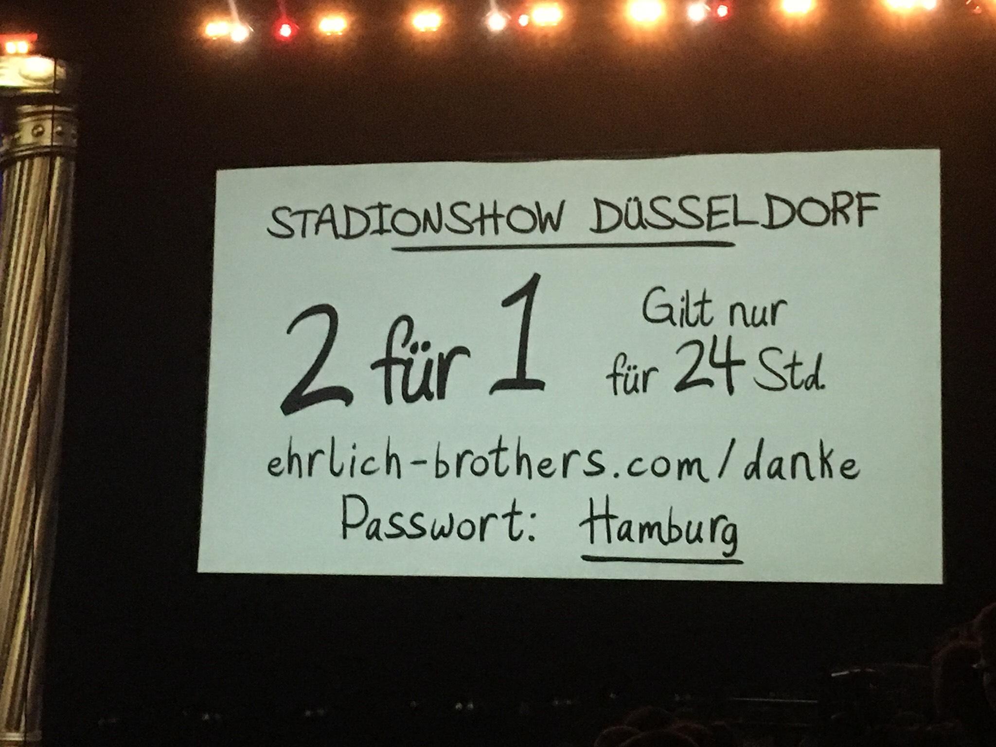 Ehrlich Brothers 2 für 1 Düsseldorf