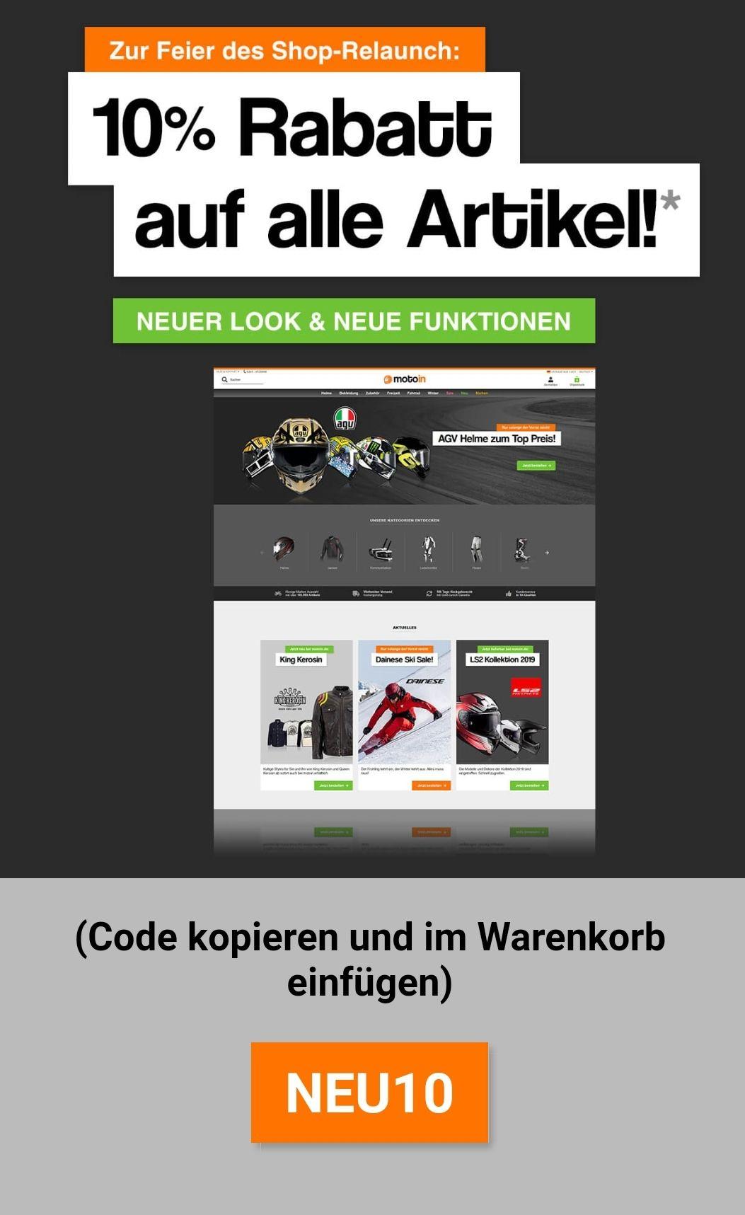 10% auf alle Artikel bei Motoin.de